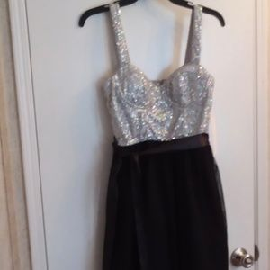 Love Reign As U Wish Sequin Black Cocktail Dress